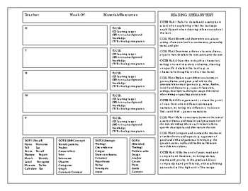 Ultimate Planner 4th Grade Literary Text