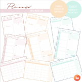 Ultimate Planner Bundle - Daily, Weekly & Monthly - 3 Colo