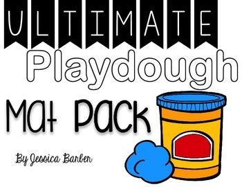 Ultimate Playdough Mat Pack- Literacy and Math Mats
