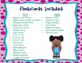 Ultimate Primary Flashcard Packet ELA and Math