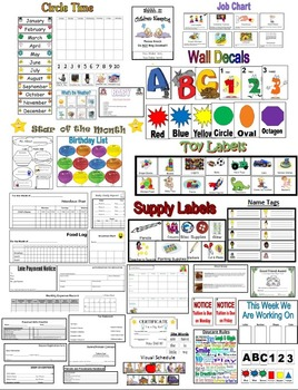 Ultimate Provider Pack (Circle Time, Classroom Decor,Daily Forms, & More)