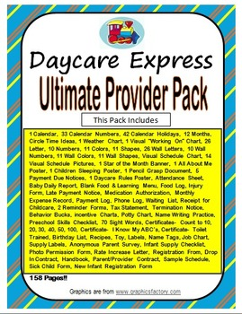 Ultimate Provider Pack (Circle Time, Classroom Decor,Daily