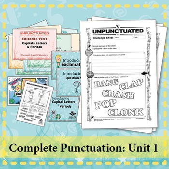 Complete Punctuation (4-6yrs)Capitals, Periods, Questions, Exclamations