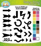 Rainbow Arrows Clipart Mega Bundle {Zip-A-Dee-Doo-Dah Designs}