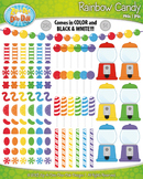 Rainbow Candy Clipart {Zip-A-Dee-Doo-Dah Designs}