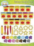 Rainbow Clay Dough & Tools Clipart {Zip-A-Dee-Doo-Dah Designs}