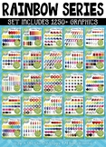 Ultimate Rainbow Graphic Series Clipart Set – Over 1250 Graphics!