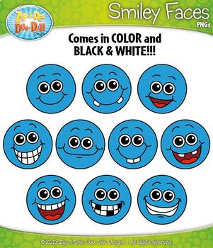 Ultimate Rainbow Smiley Faces Clipart Mega Bundle