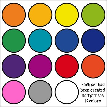 Ultimate Rainbow Themed Clip Art Bundle