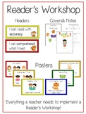 Ultimate Reader's Workshop Packet Reading Strategies Goal Posters Covers Notes