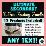 Ultimate Secondary Reading Bundle - No Prep - Nonfiction &