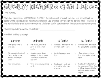 Ultimate Reading Challenge - August Edition
