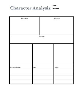 Ultimate Reading Graphic Organizer