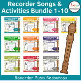 Recorder Songs and Activities Bundle 1-10