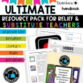 Relief Teacher and Substitute Binder   BTSDOWNUNDER