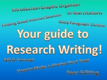 Ultimate Research Paper Bundle: In-text Citations, MLA Format, Work Cited & MORE