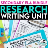 Research Paper Writing Unit: Lessons, PowerPoint, Handouts, Research Bundle