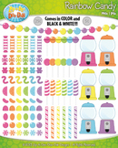 Retro Pastel Rainbow Candy Clipart {Zip-A-Dee-Doo-Dah Designs}