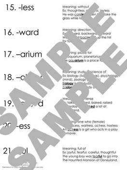 Ultimate Ring Word Testing (prefix, suffix, vocabulary)