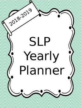 Ultimate SLP Planner 2018-2019
