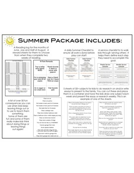 Ultimate SUMMER learning package for kids!