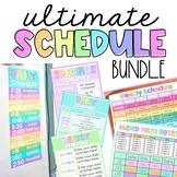 Daily & Weekly Schedule Template Bundle EDITABLE