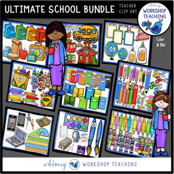 Ultimate Back To School Clip Art Bundle (240 graphics)