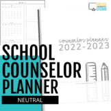 School Counselor Planner 2019 - 2020 (Neutral Heart Theme)