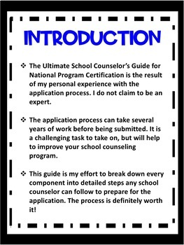 School Counselor's Guide for National Program Certification