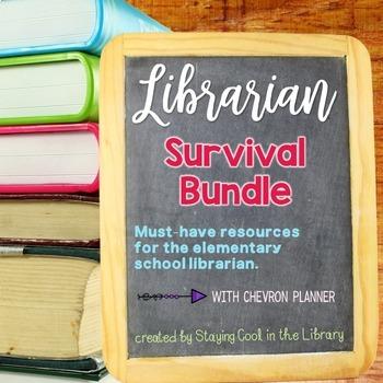 Ultimate School Librarian Survival Kit bundle - Chevron Planner