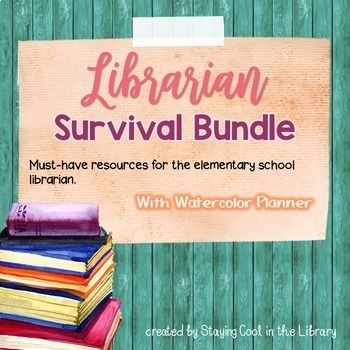 Librarian teaching resources teachers pay teachers ultimate school librarian survival kit bundle watercolor planner fandeluxe Gallery