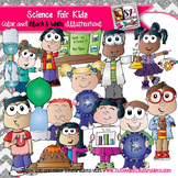 Ultimate Science & Science Fair Kid clip art