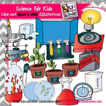 Ultimate Science & Science Fair Kid clip art