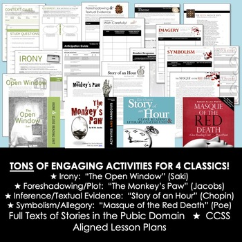 Short Story Ultimate Mega-Bundle: 8 Stories, 13 Resources, 330+ Pages
