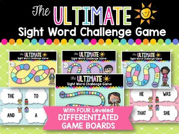 Ultimate Sight Word Challenge Board Game