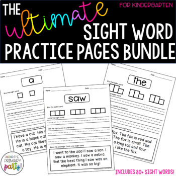 Ultimate Sight Word Practice for Kindergarten