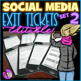 Distance Learning Social Media Editable Exit Tickets: cell
