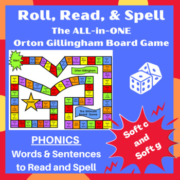 Soft c and Soft g Orton word cards, sentences & games- lesson planning made easy