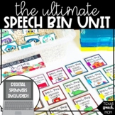 Speech Therapy Sensory Bin: Articulation and Language Unit   Distance Learning