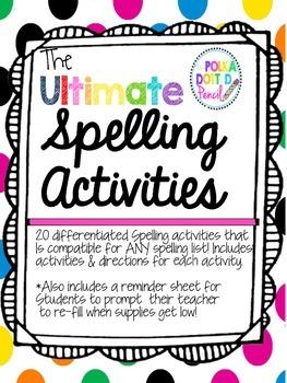 Ultimate Spelling Word Work Bundle