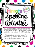 Ultimate Spelling Word Work Bundle