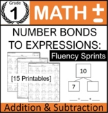 1st Grade: Addition Subtraction to 10 Number Bond to Expression (Fluency Sprint)