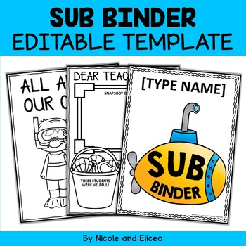 Editable Substitute Binder Templates