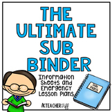 Sub Binder with Emergency Sub Plans
