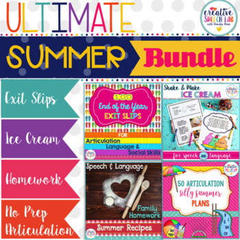 Ultimate Summer Speech and Language Bundle