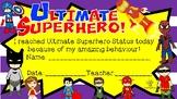 Ultimate Superhero Status Certificate