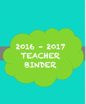 Ultimate Teacher Binder