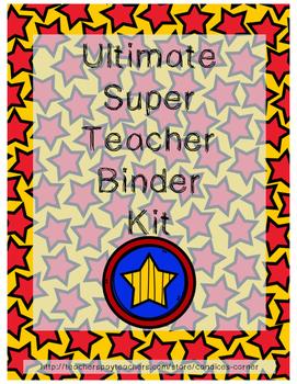 Binder Organization Kit (Superhero Themed)