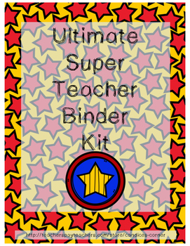 Binder Organization Kit (Superhero Themed)