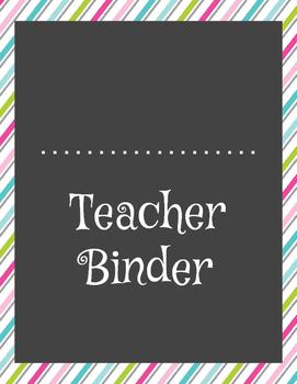 Ultimate Teacher Binder - Pastel Stripes